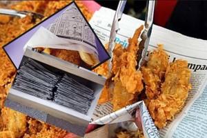 Foto : Bahaya Kertas Daur Ulang Untuk Pembungkus Makanan