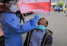 kegiatan tes rapid antigen oleh dinas kesehatan untuk deteksi dini warga yang terpapar COVID-19.
